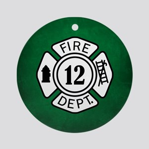 FIRE DEPT Ornament (Round)