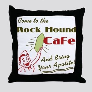 Rockhound Cafe Throw Pillow