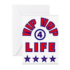 HIP HOP 4 LIFE Greeting Cards (Pk of 10)