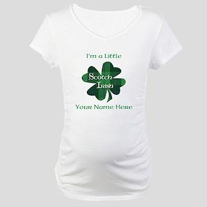 Green Plaid Scotch Irish Shamrock Maternity T-Shir
