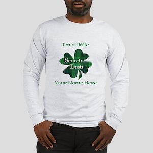 Green Plaid Scotch Irish Shamrock Long Sleeve T-Sh