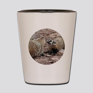 Snarling and Fierce Badgers Shot Glass