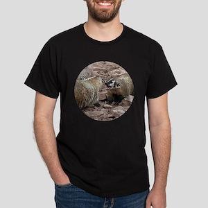 Snarling and Fierce Badgers Dark T-Shirt