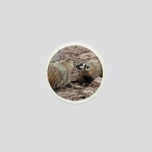 Snarling and Fierce Badgers Mini Button