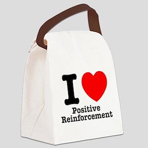 I Heart Positive Reinforcement Canvas Lunch Bag