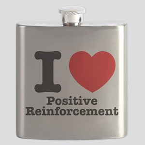 I Heart Positive Reinforcement Flask