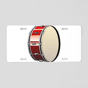 Bass Drum Aluminum License Plate