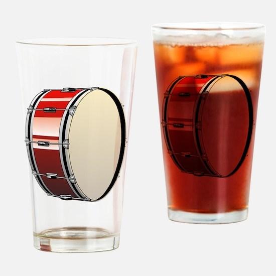 Bass Drum Drinking Glass
