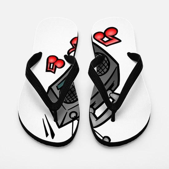 Music Boombox Flip Flops