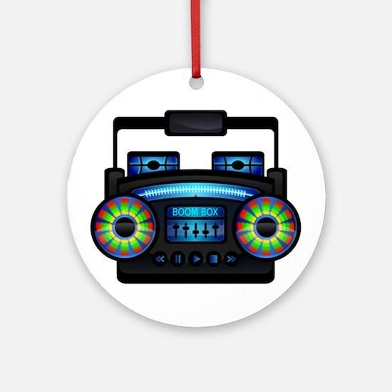 Music Boombox Ornament (Round)