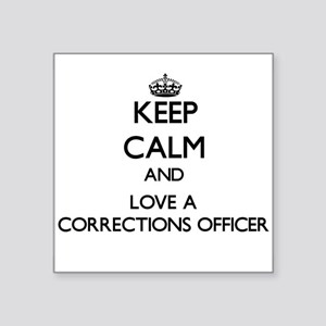 Keep Calm and Love a Corrections Officer Sticker