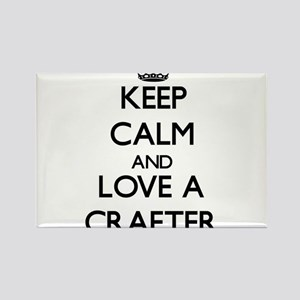 Keep Calm and Love a Crafter Magnets