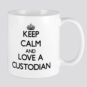 Keep Calm and Love a Custodian Mugs