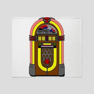 Vintage Jukebox Throw Blanket