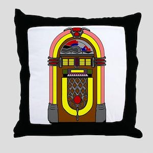 Vintage Jukebox Throw Pillow