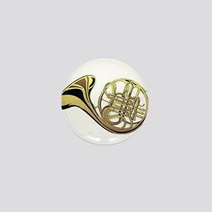 French Horn Mini Button