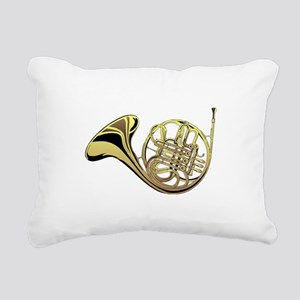 French Horn Rectangular Canvas Pillow