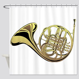 French Horn Shower Curtain