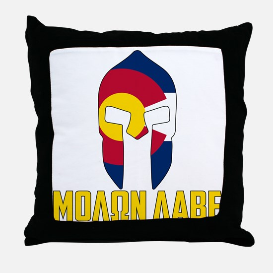 Cute Molon labe Throw Pillow