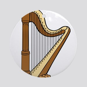 Musical Harp Ornament (Round)