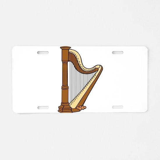 Musical Harp Aluminum License Plate