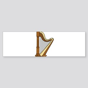 Musical Harp Bumper Sticker