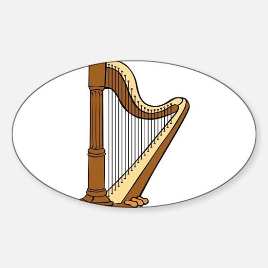 Musical Harp Decal