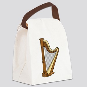 Musical Harp Canvas Lunch Bag