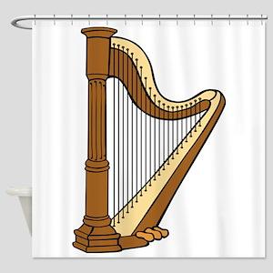 Musical Harp Shower Curtain