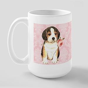Beagle Rose Large Mug