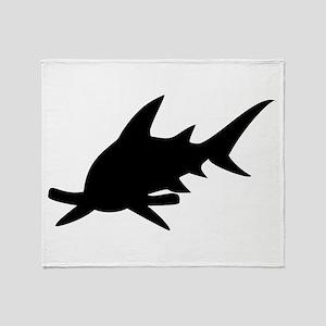 Hammerhead Shark Silhouette Throw Blanket