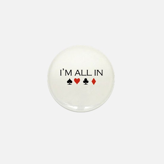 I'm all in /poker Mini Button