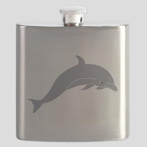 Grey Dolphin Flask