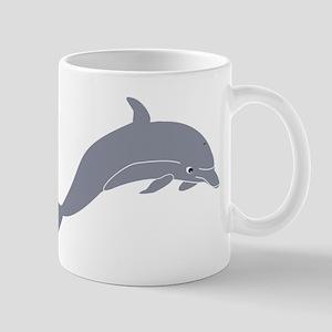 Grey Dolphin Mugs