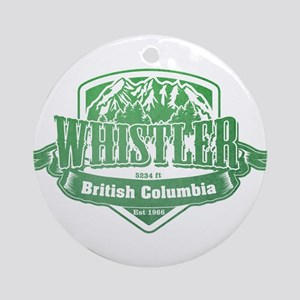 Whistler British Columbia Ski Resort 3 Ornament (R