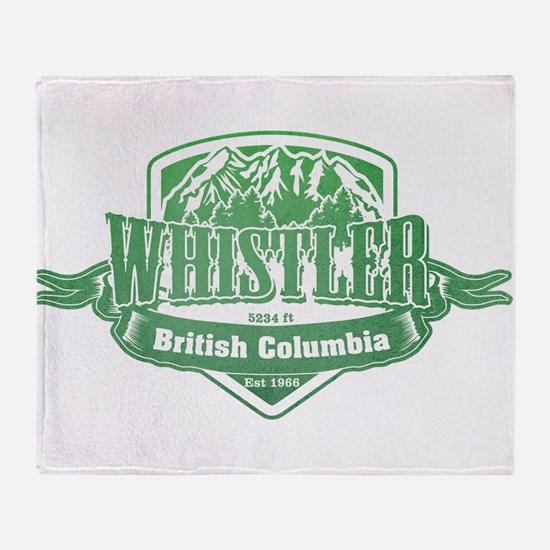 Whistler British Columbia Ski Resort 3 Throw Blank