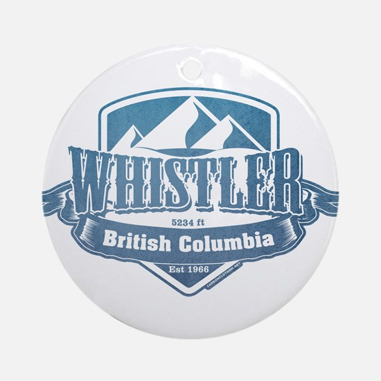 Whistler British Columbia Ski Resort 1 Ornament (R