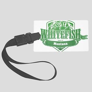 Whitefish Montana Ski Resort 3 Large Luggage Tag
