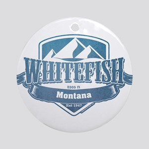 Whitefish Montana Ski Resort 1 Ornament (Round)