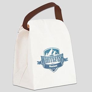 Whitefish Montana Ski Resort 1 Canvas Lunch Bag