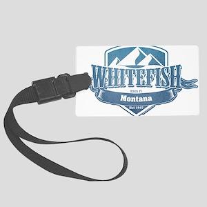Whitefish Montana Ski Resort 1 Large Luggage Tag