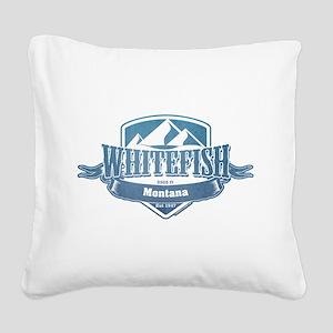 Whitefish Montana Ski Resort 1 Square Canvas Pillo