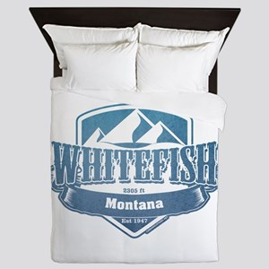 Whitefish Montana Ski Resort 1 Queen Duvet