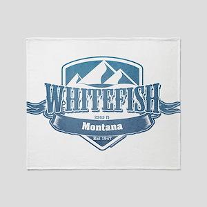 Whitefish Montana Ski Resort 1 Throw Blanket