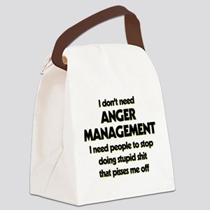 I Don't Need Anger Management Canvas Lunch Bag