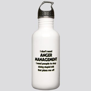 I Don't Need Anger Man Stainless Water Bottle 1.0L