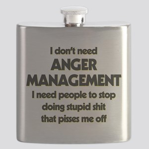 I Don't Need Anger Management Flask