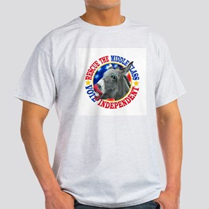 RESCUE the MIDDLE CLASS Ash Grey T-Shirt