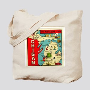 vintage michigan Tote Bag