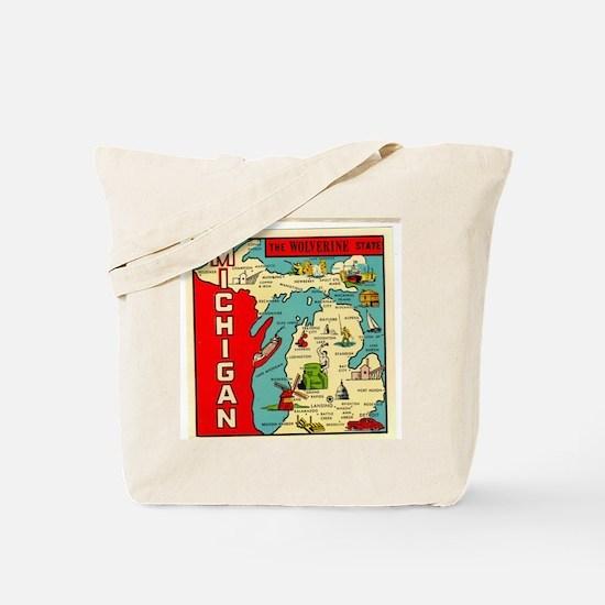 vintage michigan Tote Bag